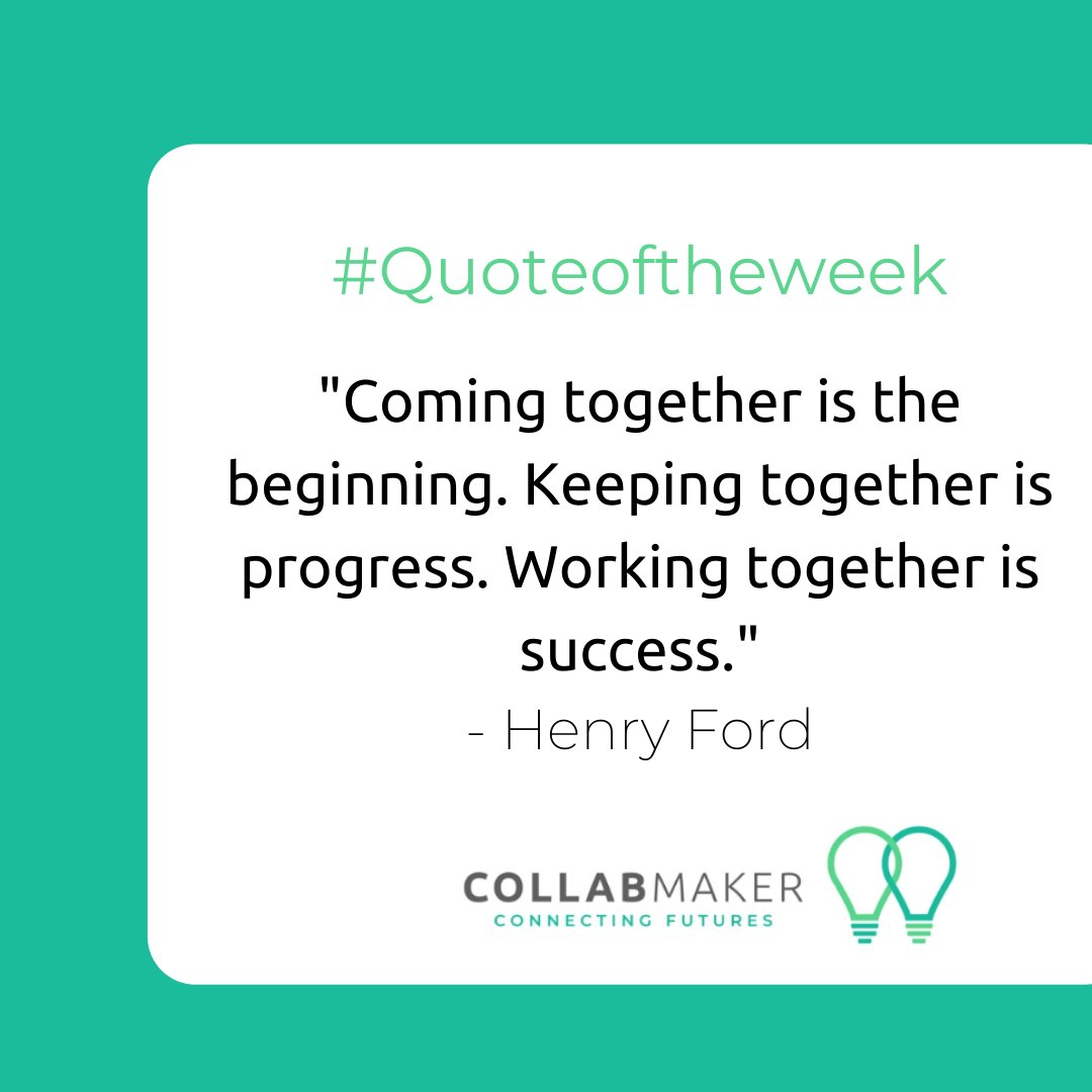 CollabMaker will guide you through all these stages from matching to providing practical help on how to work together efficiently. Join us today at https://t.co/CXb6Wq4OV0! #CollabMaker #ConnectingFutures #MondayMotivation #Business #Entrepreneur #Startuplife #Inspiration #Work https://t.co/5vYWdjgbG4