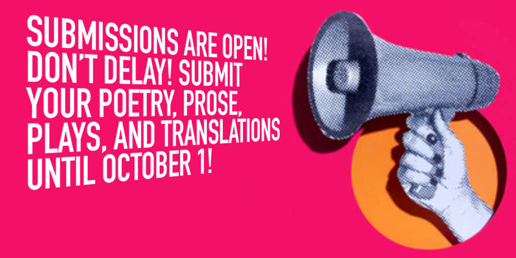 Don't forget: our submissions are open! Send us your work. We'd love to read it!  Check out our guidelines here:  https://t.co/Cgot3GJ5Y2 https://t.co/MSR93u9G2p
