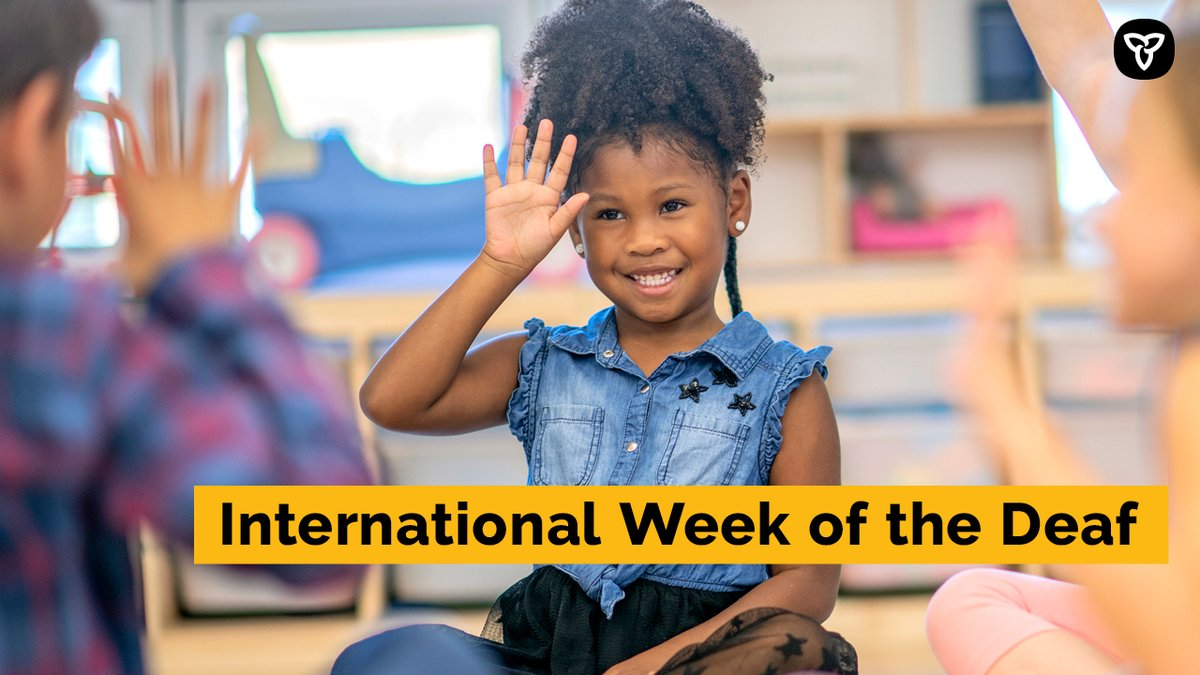 Today marks the beginning of International Week of the Deaf. #IWDeaf   We're taking this opportunity to thank everyone in the deaf community for their important contributions across the world and right here in Ontario. #IWDeaf2020 https://t.co/DWs4jflEnU