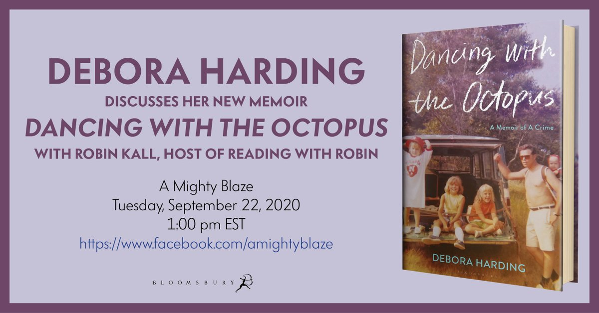 .@DeboraHarding will be discussing her new memoir DANCING WITH THE OCTOPUS with @AMIGHTYBLAZE on Tuesday, 09/22 at 1PM EST! Watch it live via their Facebook page!   https://t.co/0dn9F3udsH https://t.co/4b4xl1F81G