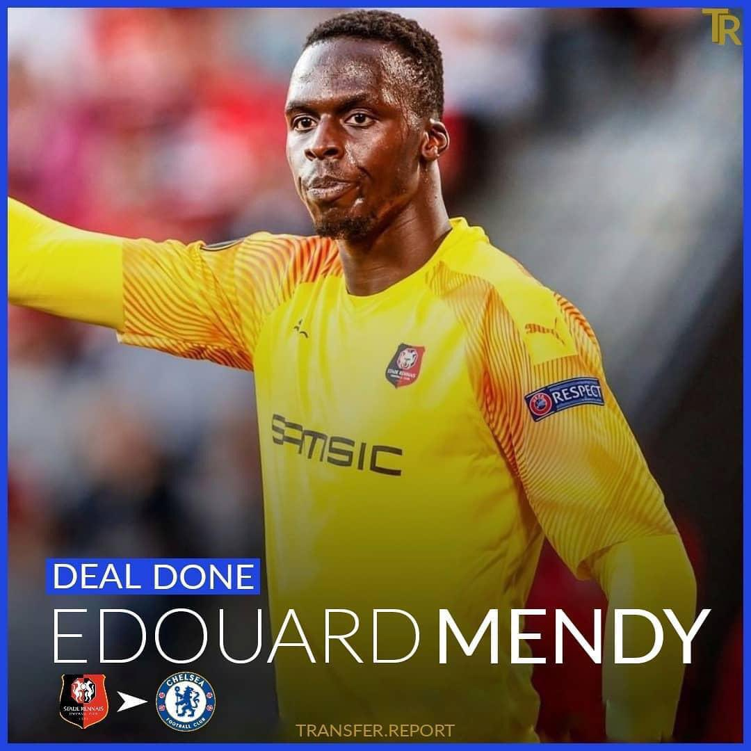 Edouard Mendy is having medical at Chelsea after £22m fee is agreed with Rennes. {Sky Sports}