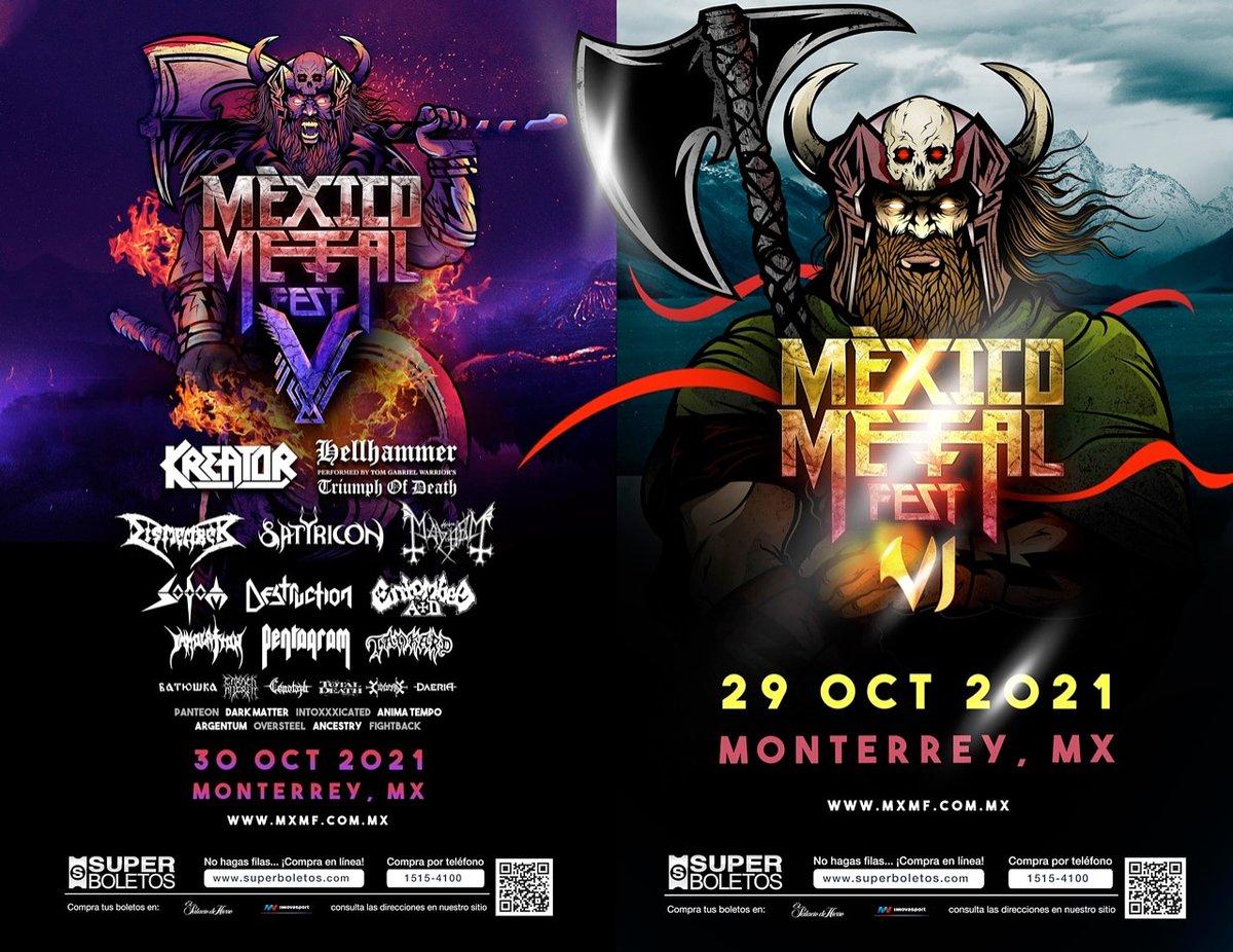 Catch ya next year at @mexicometalfest in #Monterrey . . . #monterrey #team #openair #massive #metalmusic #metalforce #progressivemetal #progmetal #mexico #fest #2021 #quarantine #weareback #pickoftheday #kreator #mayhem #hellhammer #satyricon #animatempo # https://t.co/OvTwKoeQSd