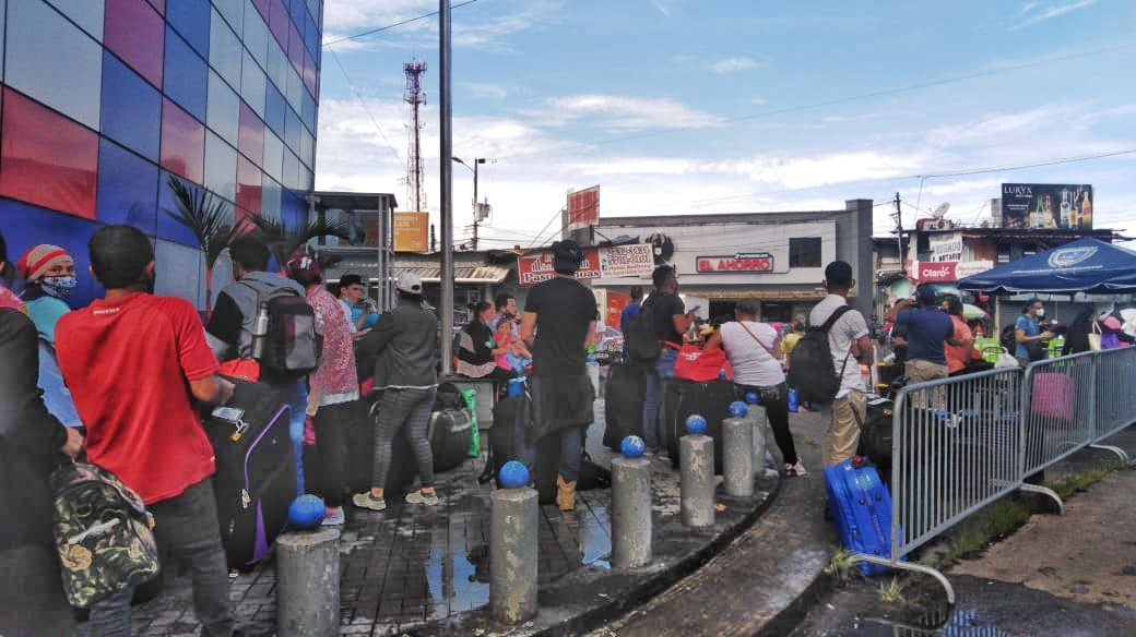 El Servicio Nacional de Migración de Panamá informa que más de 300 nicaragüenses salieron del país