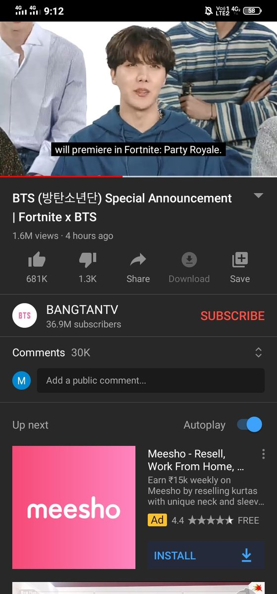 So I got new breakdown.because I have exam on the same day.😭😭I'm sad as hell.even I don't have fortnite but I'm gonna have it for them but when Suga tell the smdate and time.I was broken into pieces .why in this world its happening with me #BTSARMY @bts_bighit @BTS_twt https://t.co/sN2n7r7CwC