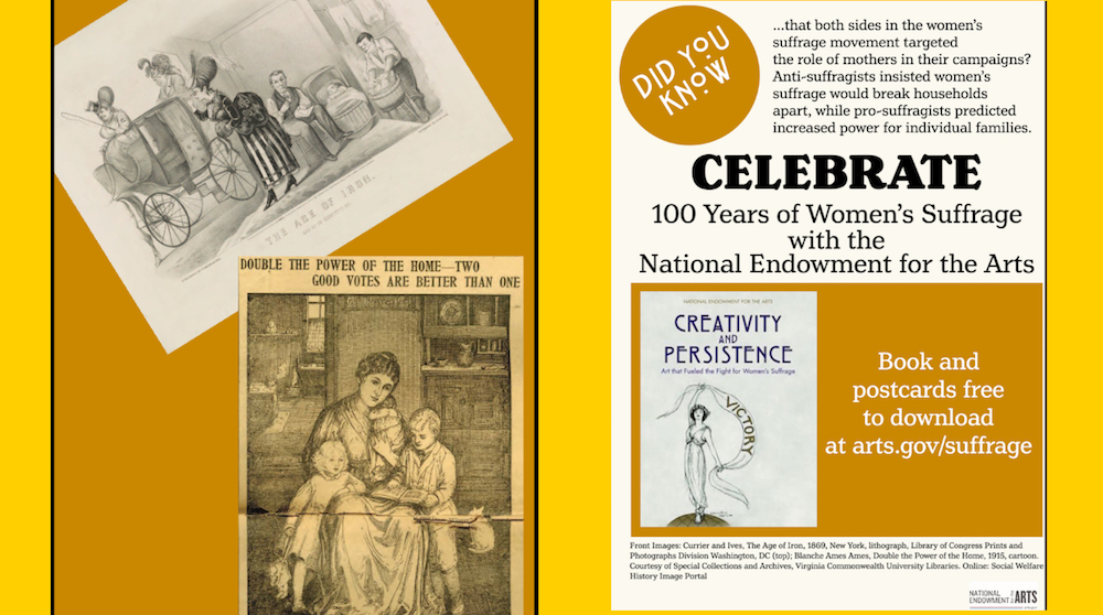Make like an early 20th-century postcard enthusiast & visit https://t.co/MbYwcWQe8X to download collectible postcards inspired by images from Creativity & Persistence: Art that Fueled the Fight for Women's Suffrage. https://t.co/ywiuZVUlMb