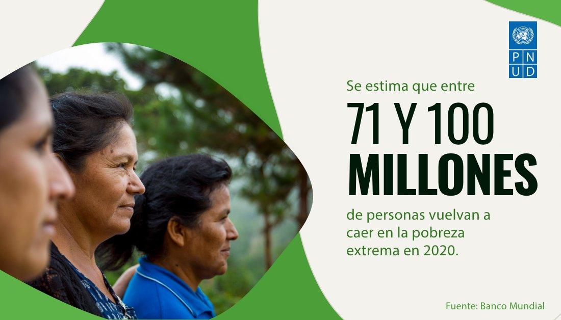 El @BancoMundial estima que hasta 100 millones de personas podrían volver a caer en la #pobreza extrema este año. Más sobre los desafíos de la pandemia: https://t.co/dznT5G8eRS (Vía @pnud) https://t.co/ml9RJyXtmn