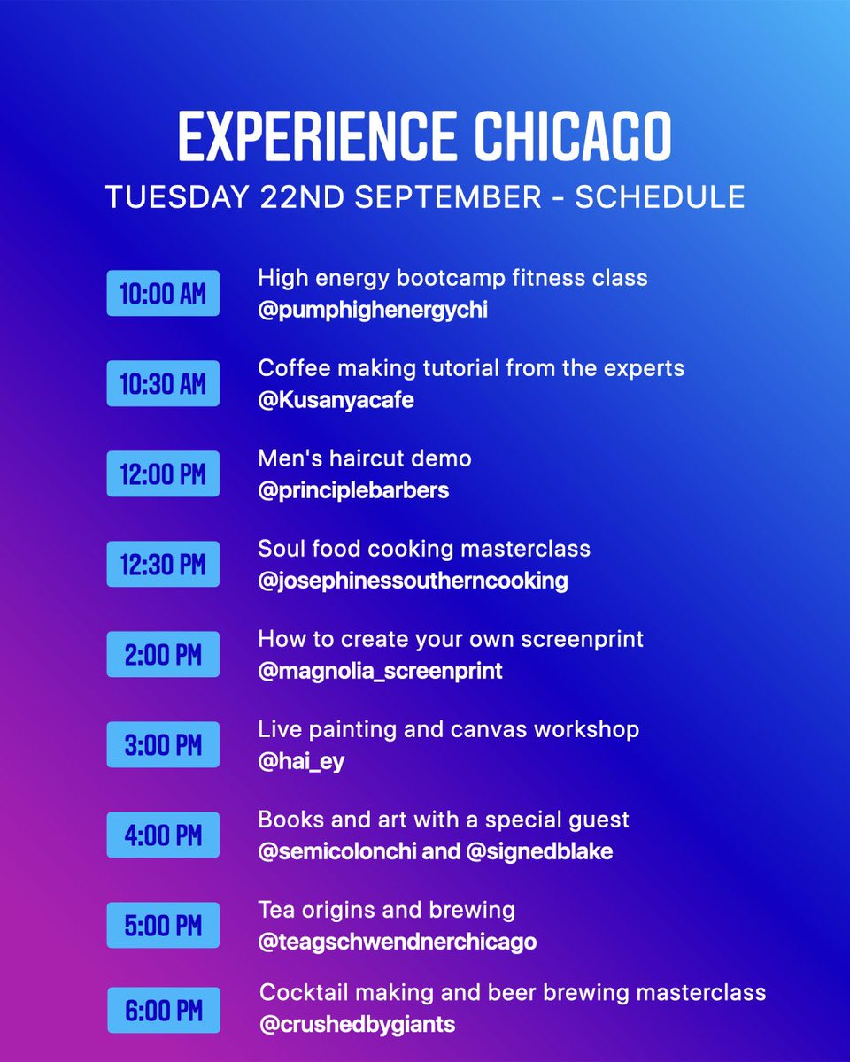 Join us tomorrow at 10am as we #ExperienceChicago on IG Live! Major s/o to our friends at @instagram for doing this for small businesses all across the city! https://t.co/0CJOOf4jkP