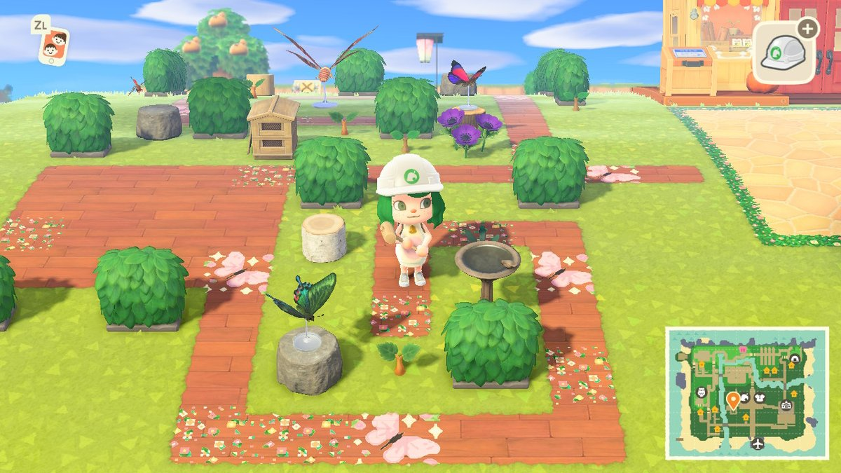 It doesn't look like much now, but when I'm done it will be the cutest butterfly garden you've ever seen 🦋✨ #ACNH #AnimalCrossingNewHorizons #butterflygarden https://t.co/idZoT3BiRY