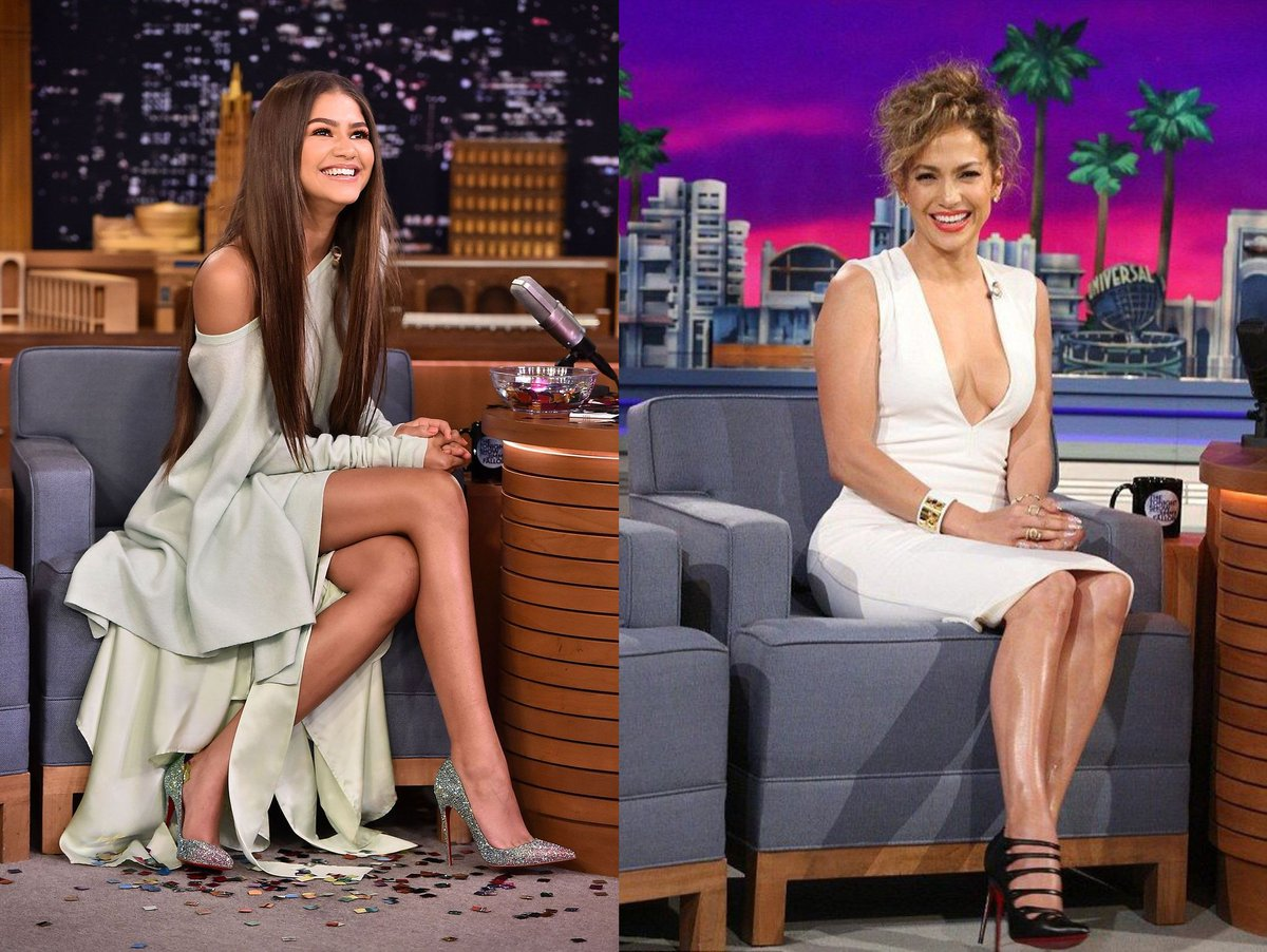Ok y'all I put together another one and this time it's @Zendaya & @JLo when they were on the The @FallonTonight Show. Now as you can see look at how they both smile, I swear they really do look alike! #JenniferLopezandZendaya #Zendaya #JenniferLopez #latinabeauty https://t.co/L3CtWnAadv
