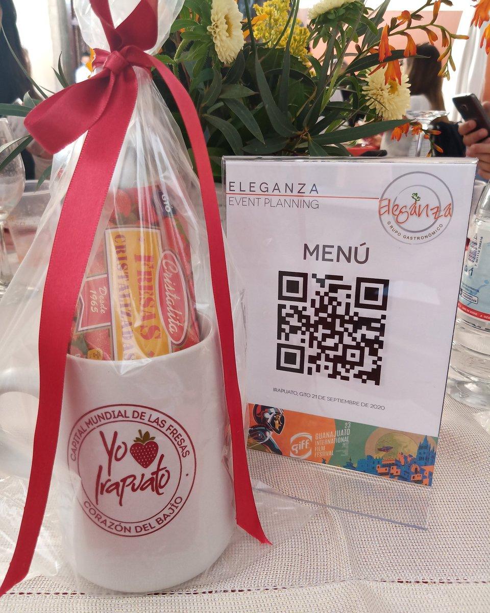 Gracias a @irapuatogob y #Eleganza por las atenciones en el marco del @giffmx. ¡Gracias por la comida! 🍽😋  #GIFF2020 #CoberturaCinemaTempo📡 https://t.co/xw5idL6fWk