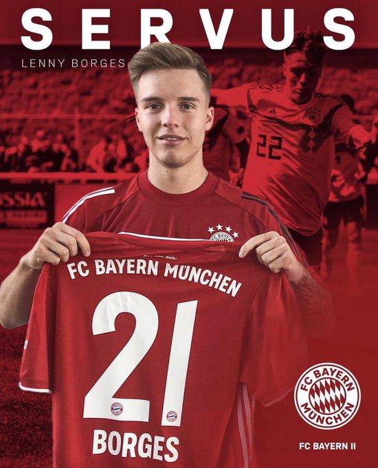 🔴 OFFICIEL   Le jeune latéral droit Lenny Borges (19 ans) rejoint la réserve en prêt pour 1 an en provenance de l'AC Milan ! [@FCBjuniorteam]  #MiaSanMia #FCBAmateure https://t.co/GEbcqEGz84