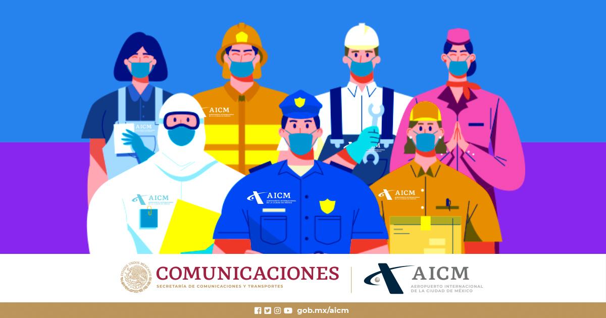 """En el #AICM ejercemos la igualdad laboral, respetamos la diversidad y le decimos """"NO"""" a la discriminación. https://t.co/3j86Ew2QyV"""