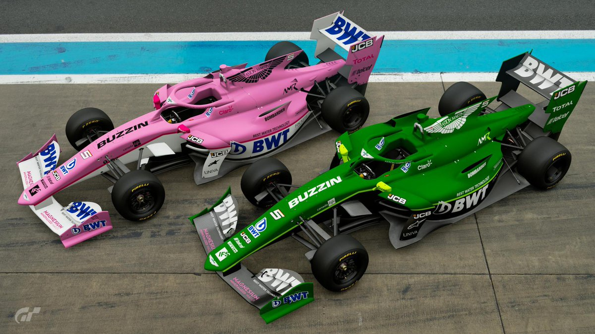 Be a shocker when the cars are still pink next year, right @RacingPointF1  Anyway. Two final versions #AstonMartin #racingpoint #F1 https://t.co/05BCPXb98q