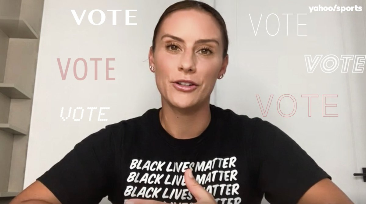Introducing the @YahooSports #VotingPlaybook! Any questions about how to vote in your state? @alikrieger and @Ashlyn_Harris join other sports stars in providing information on how to make your voice heard 🗳️ ➡️ yhoo.it/32MR0WB