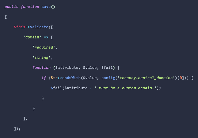 Closure validation rules are 🔥. They're often better than creating a class just for a single use