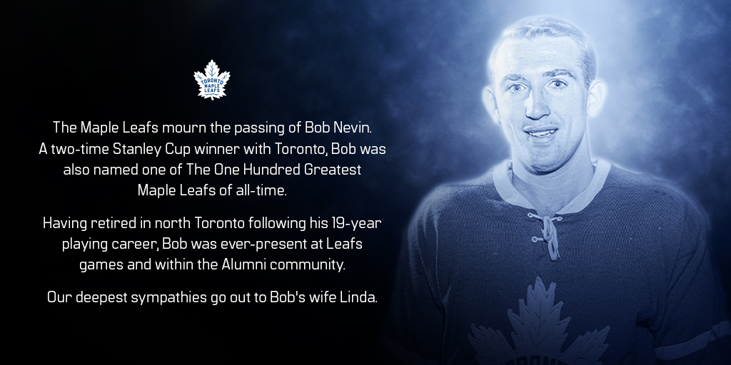 We are deeply saddened to learn of the passing of Bob Nevin. https://t.co/0VtHqPSE6n