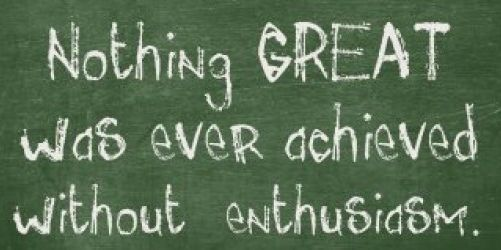 Enthusiasm is truly the secret sauce of life...in my humble opinion! ~ #DTN #works4me