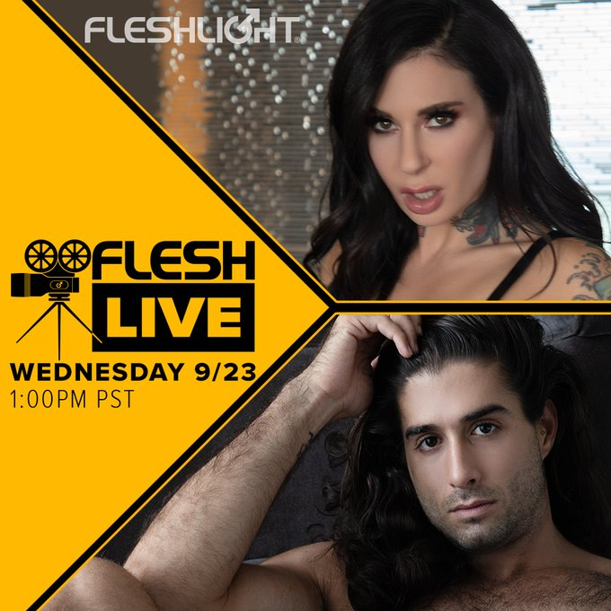 Tune in to this week's FleshLive and hang out with our host,  director and one of your favorite Fleshlight