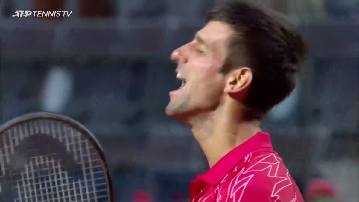 The moment @DjokerNole won his 5th Rome crown and a record-breaking 36th Masters 1000 title!   #IBI20 @TennisTV  https://t.co/h2UfV7EGRd
