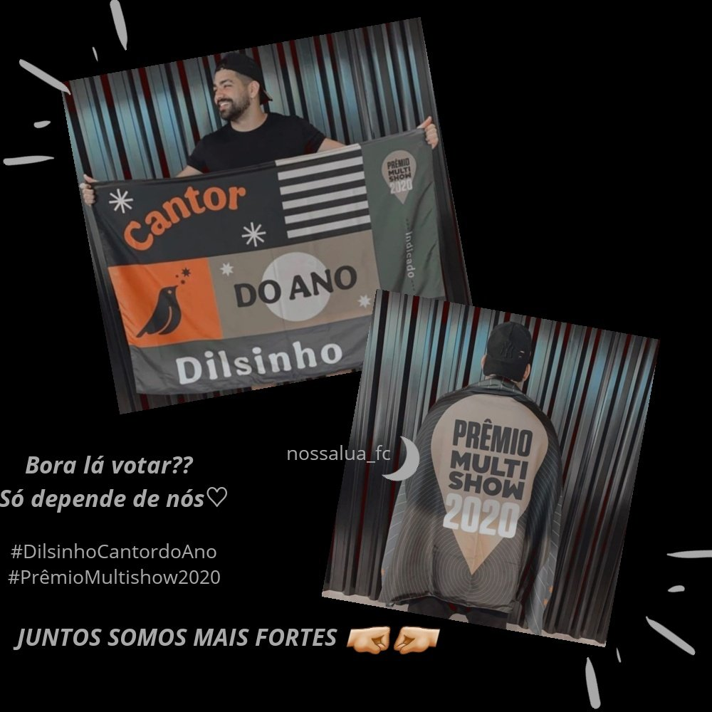 Bora votar muuuuuuito e trazer esse prêmio para nosso ídolo @DilsinhoOficial que é merecedor 😍🌙 #dilsinho #dilsinhofc #dilsinhocantordoano #cantordoano #premiomultishow2020  #premio #premiomultishow  #boravotar
