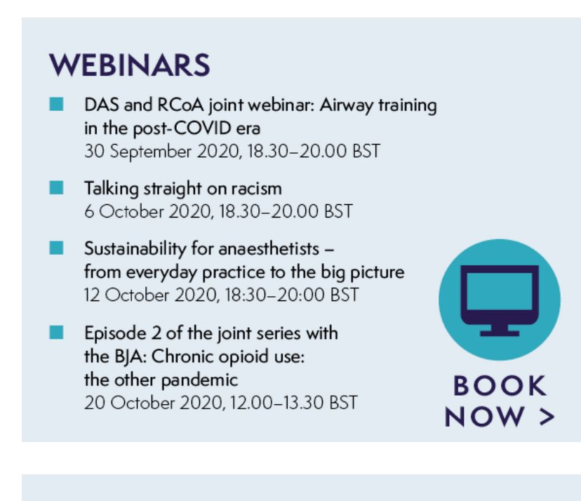@RCoANews interactive short (free) webinars - on some of the most topical issues facing us! Busy few weeks ahead #sustainablity #BlackLivesMatterUK #opoidpandemic #airwaytraining #Covid. Look forward to next one with @dasairway @dr_imranahmad @altgm @ProfEllenO @Fionafionakel https://t.co/b3gkwcFEY9