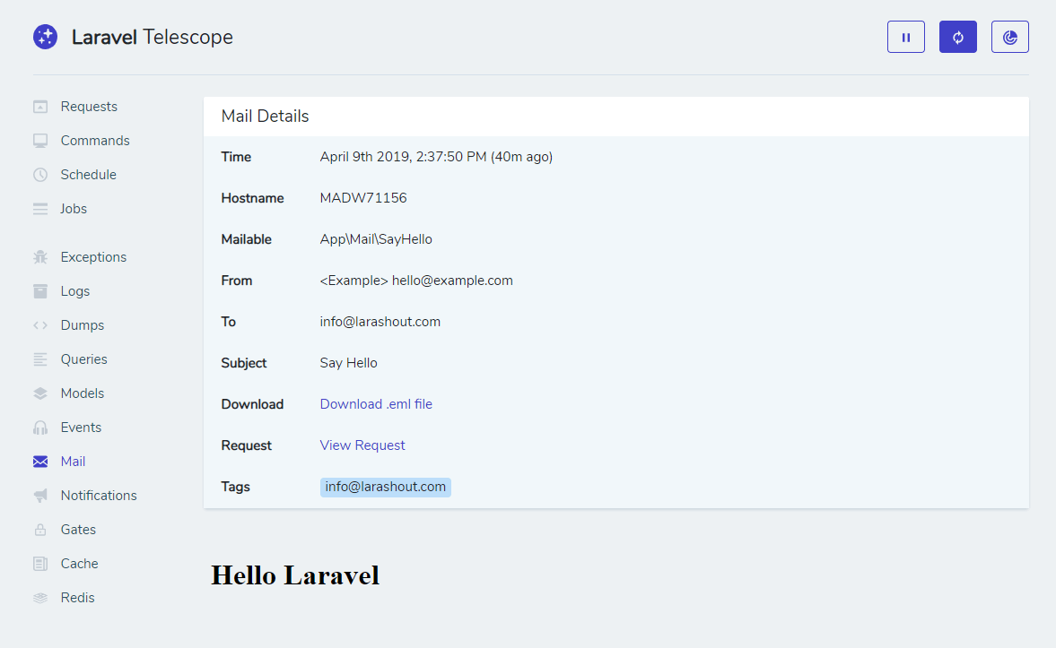 Laravel Telescope is great for so many things