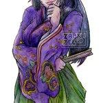 Image for the Tweet beginning: Some watercolor doodles of Saki