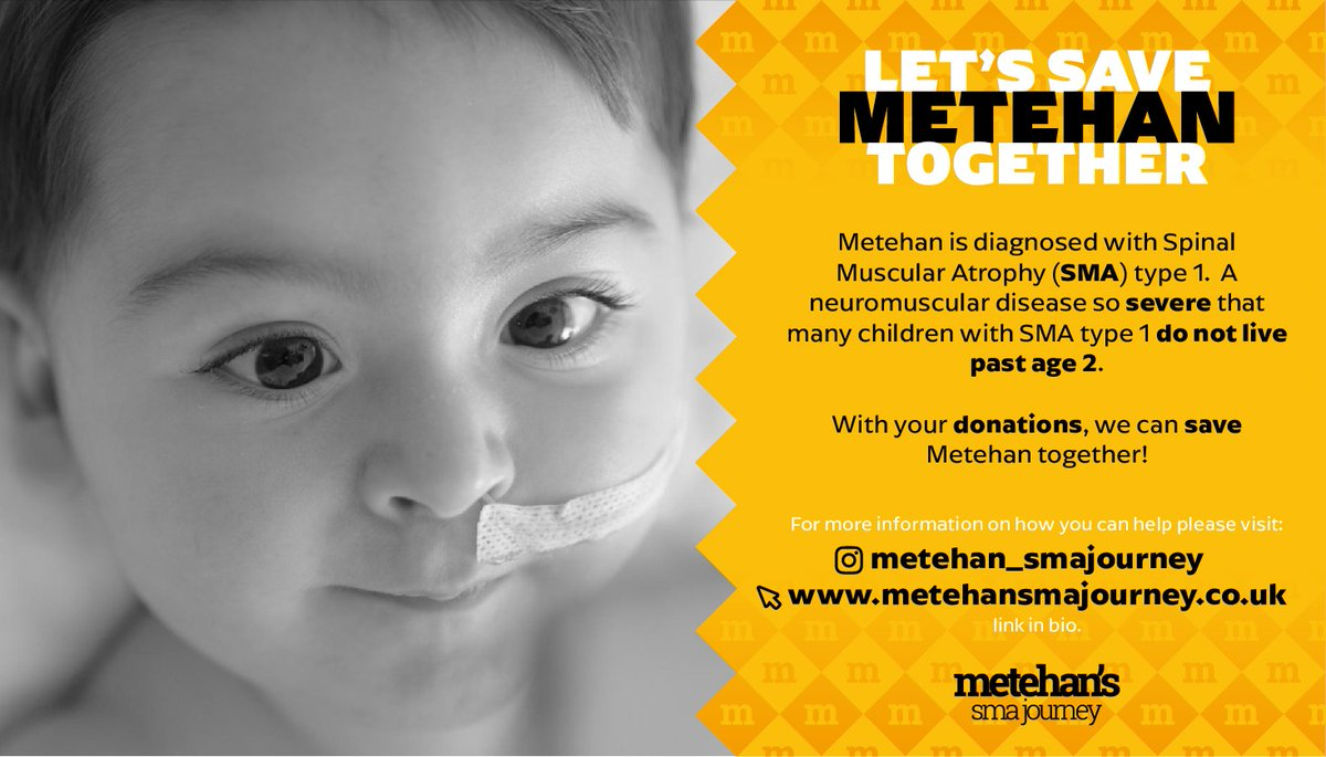 I'd like to use my reach here on twitter to help Metehan. Metehan is diagnosed with Spinal Muscular Atrophy - a genetic disorder. With your donation and your RT we can save him together 🙏🏼↪️https://t.co/ZYNO1TOBGx #PleaseRT https://t.co/P3lrLVVwGJ