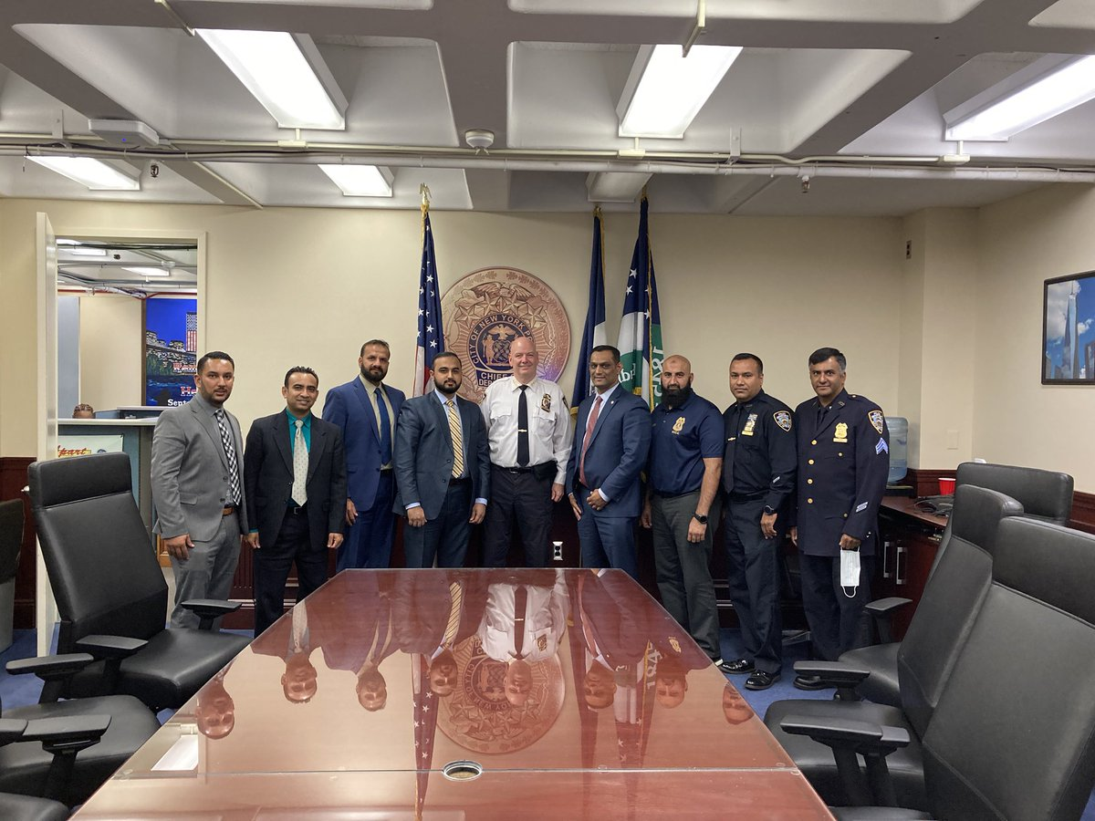 Our gratitude to @NYPDChiefofDept for meeting with our executive board,  and hearing concerns of our community and membership, to move us all forward towards a #safercity https://t.co/xPCnXLvcJs