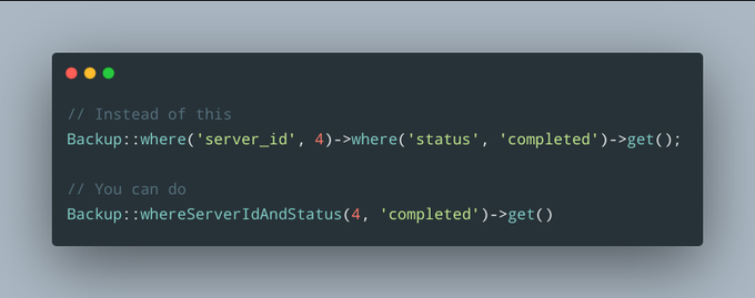 You can use where{X}and{Y}() in Eloquent