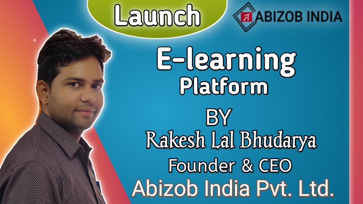 Launched #Abizob_India_E_learning_platform  Click Link-👇 https://t.co/5YBGIYoqIf  #Education #SchoolEducation #CompetitionExamEducation #UPSC #SSC #Bank #Railway #AllExams  @Bharti_Mandawar  @AbhishekMeena__  @BhupenderKhanna  @SatyaMeenaSWM  @mamta_meena1  @Kavita_Meena1 https://t.co/3GDrZMdXmE