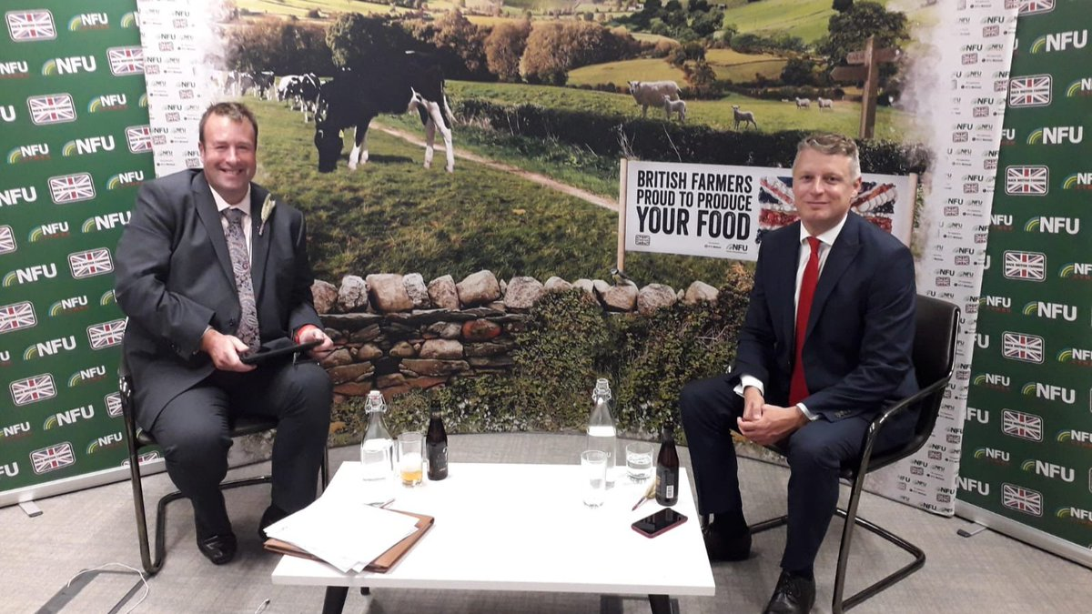 NFU Deputy President @HertsFarmer  and Shadow Secretary of State @LukePollard are ready to answer your questions at our virtual fringe event starting in 10 minutes #BackBritishFarming 🎉🇬🇧👨‍🌾 https://t.co/jjNVgKqtEn