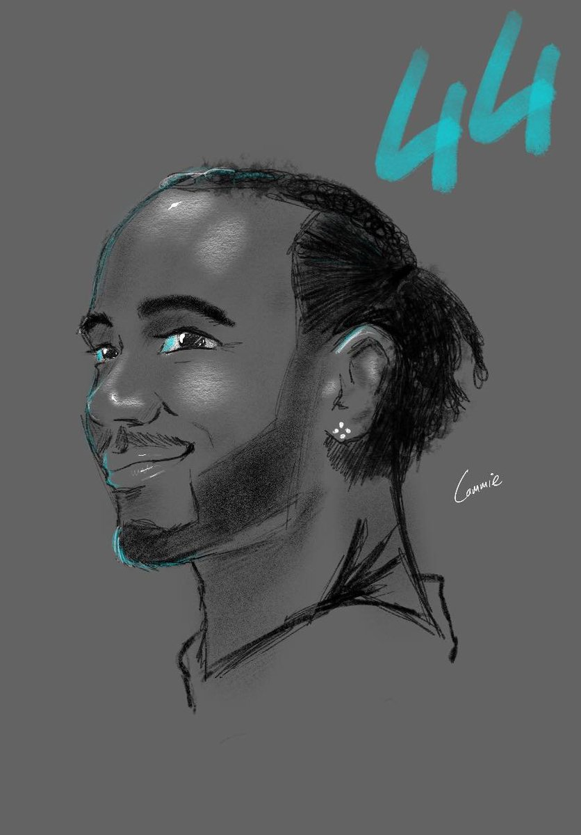 I usually just draw cars and such, but @sou_draws has inspired me recently so I sat outside the house with the iPad Pro and gave it a try ) #lewishamilton https://t.co/l9ev1SZjgw