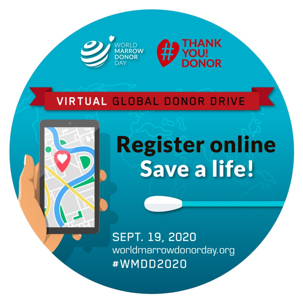 World Marrow Donor Day was celebrated around the globe on Saturday. Join the virtual global donor drive at https://t.co/kq31WVS7vW.   To learn more about Dana-Farber's Donor Services, visit https://t.co/NeANRbKeX0 #WMDD2020 https://t.co/yvIZZ80hso