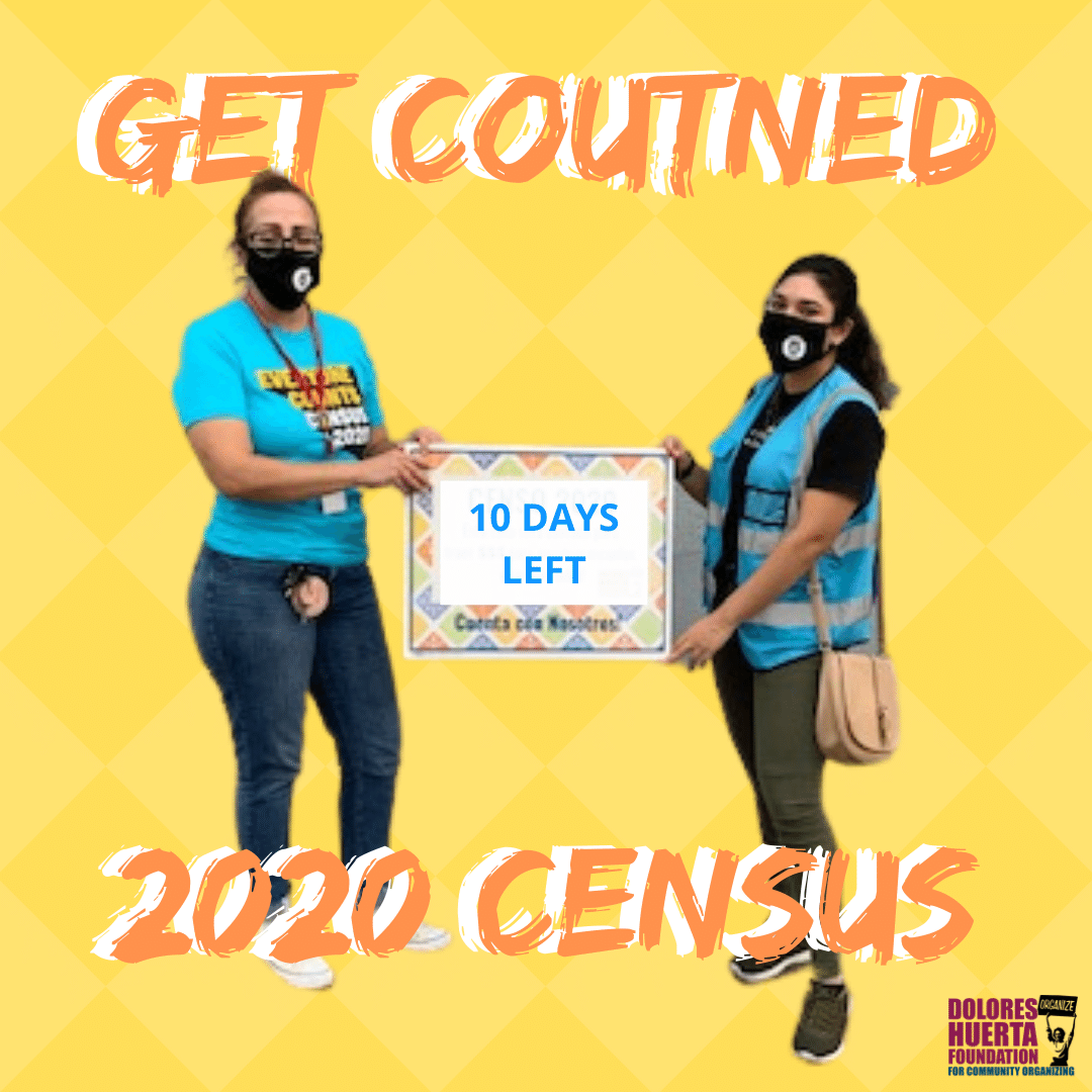 10 DAYS LEFT. Have a few minutes to spare ⏰? Complete your #Census TODAY! Luckily, you have three ways to respond. #HagaseContar #CuentaConmigo #cometoyourcensus #CountVoteWin #ContarVotarGanar #SiSePuede #DHF #2020Census @uscensusbureau @cacompletecount @cacensus https://t.co/AstGjn9tIt