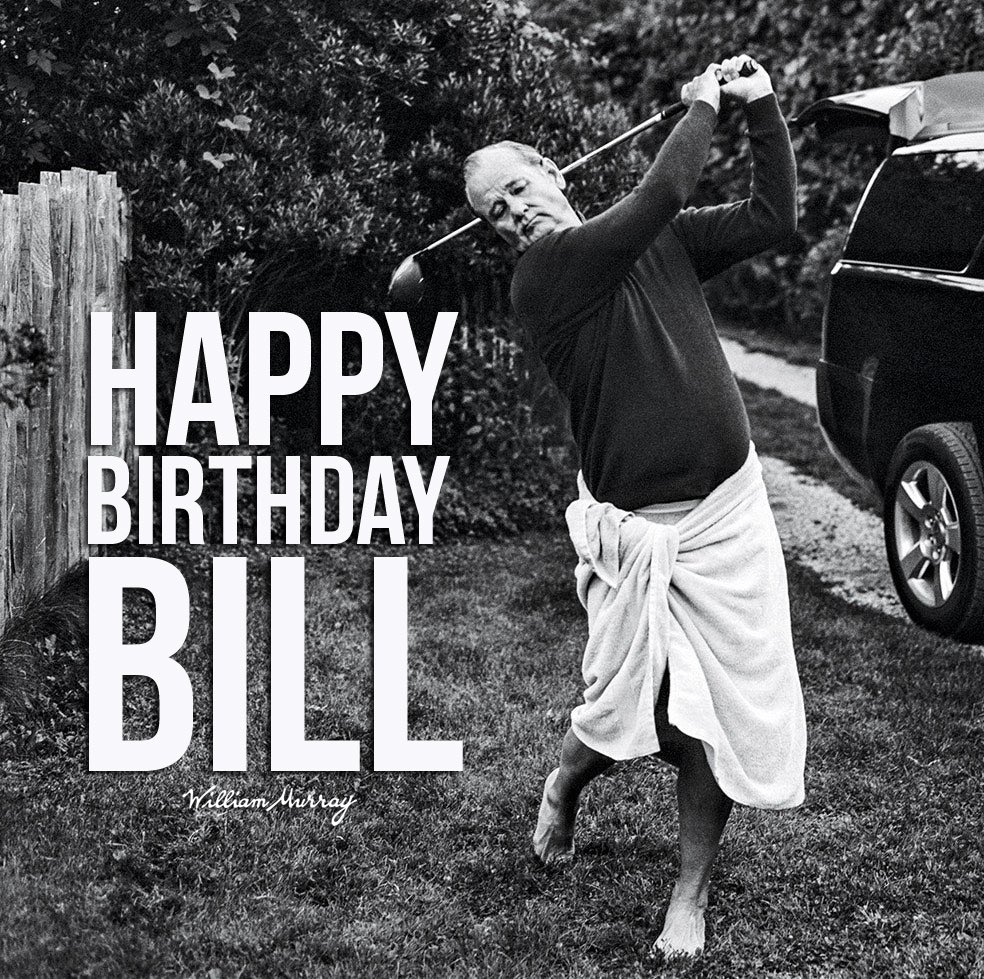 Heartfelt birthday wishes to the guy who makes our world go 'round. Please join us in raising one up to the legend that is, and forever will be William James Murray.  Cheers to many, many More. We love you—and this world needs you. Let's keep this party going.  #BillMurray #ZFG https://t.co/etlNbb6evB