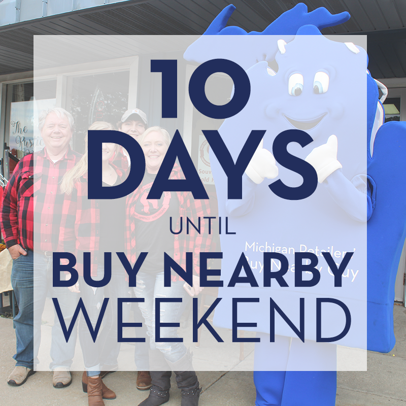 10 days to go! Don't forget about @BuyNearbyMI's photo contest during #BuyNearbyWeekend2020: https://t.co/kdR5sP4wnX https://t.co/otqXS0rDkP