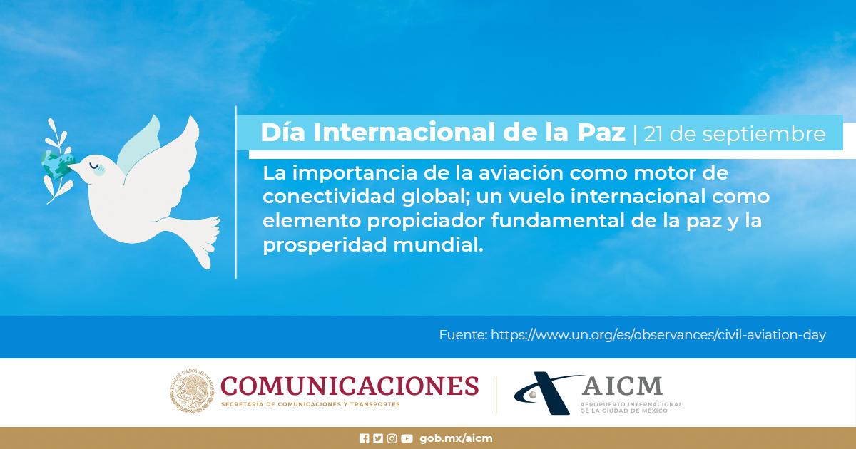 La Paz exige cuatro condiciones esenciales: Verdad, justicia, amor y libertad. #DíaInternacionalDeLaPaz #AICM https://t.co/C5b9Ye7rqI