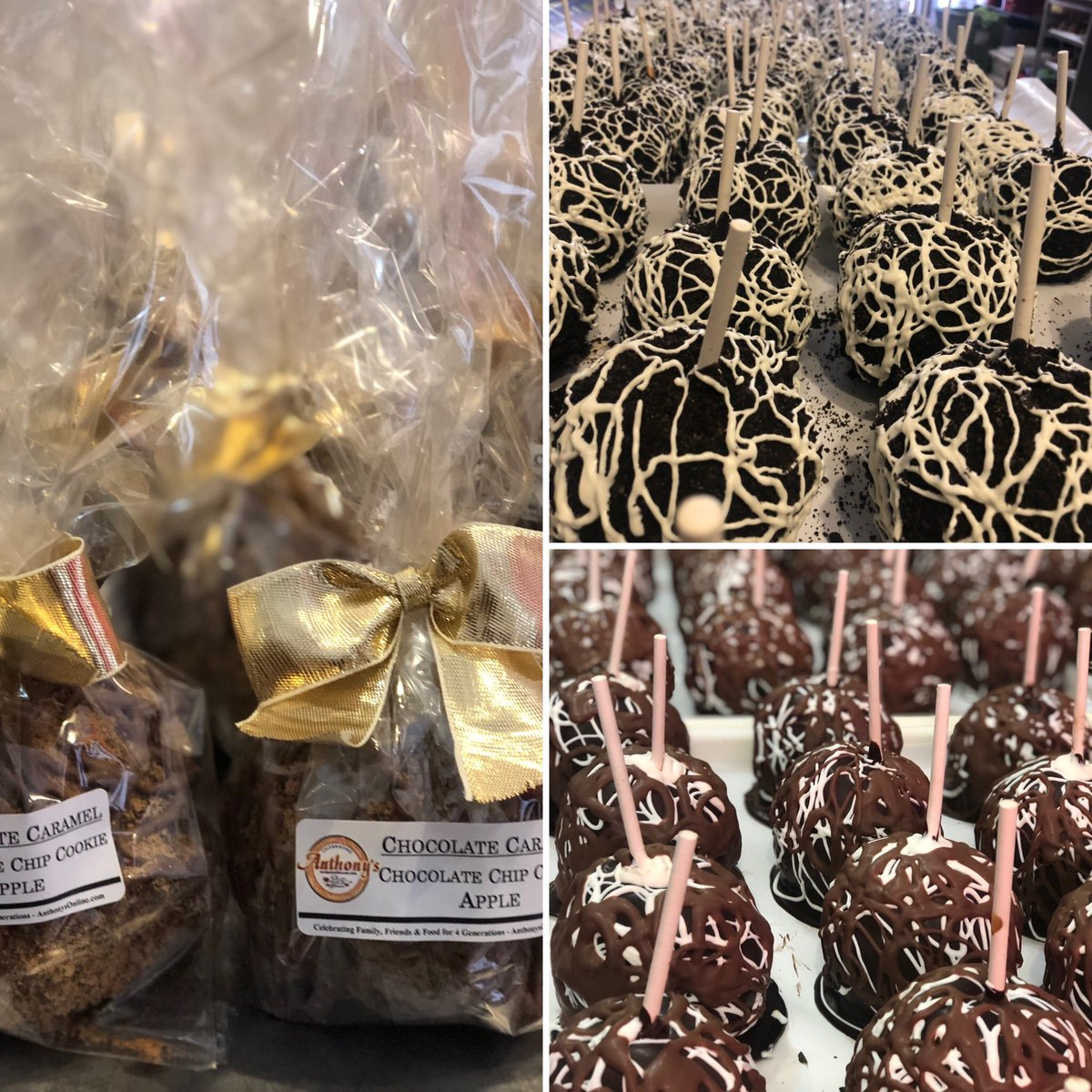 An apple a day. We're sure they meant Anthony's Chocolate Caramel Apples! Hand dipped in creamy caramel, smothered in chocolate, rolled in toppings & hand-drizzled in more chocolate.  #anthonys #italiancoffeehouse #chocolatehouse #gelateria #9thstreet #italianmarket #philly https://t.co/3Jq4k4ZECT
