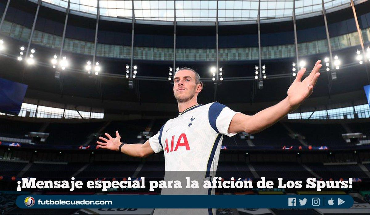 ➡️ 🏴 #GarethBale no se olvidó de su ex equipo al lanzarse una promesa a la hinchada del 🏴 #Tottenham en su presentación oficial (VIDEO) 🎥 https://t.co/gmduRtCDLS ⬅️ https://t.co/FO3BLNpYus