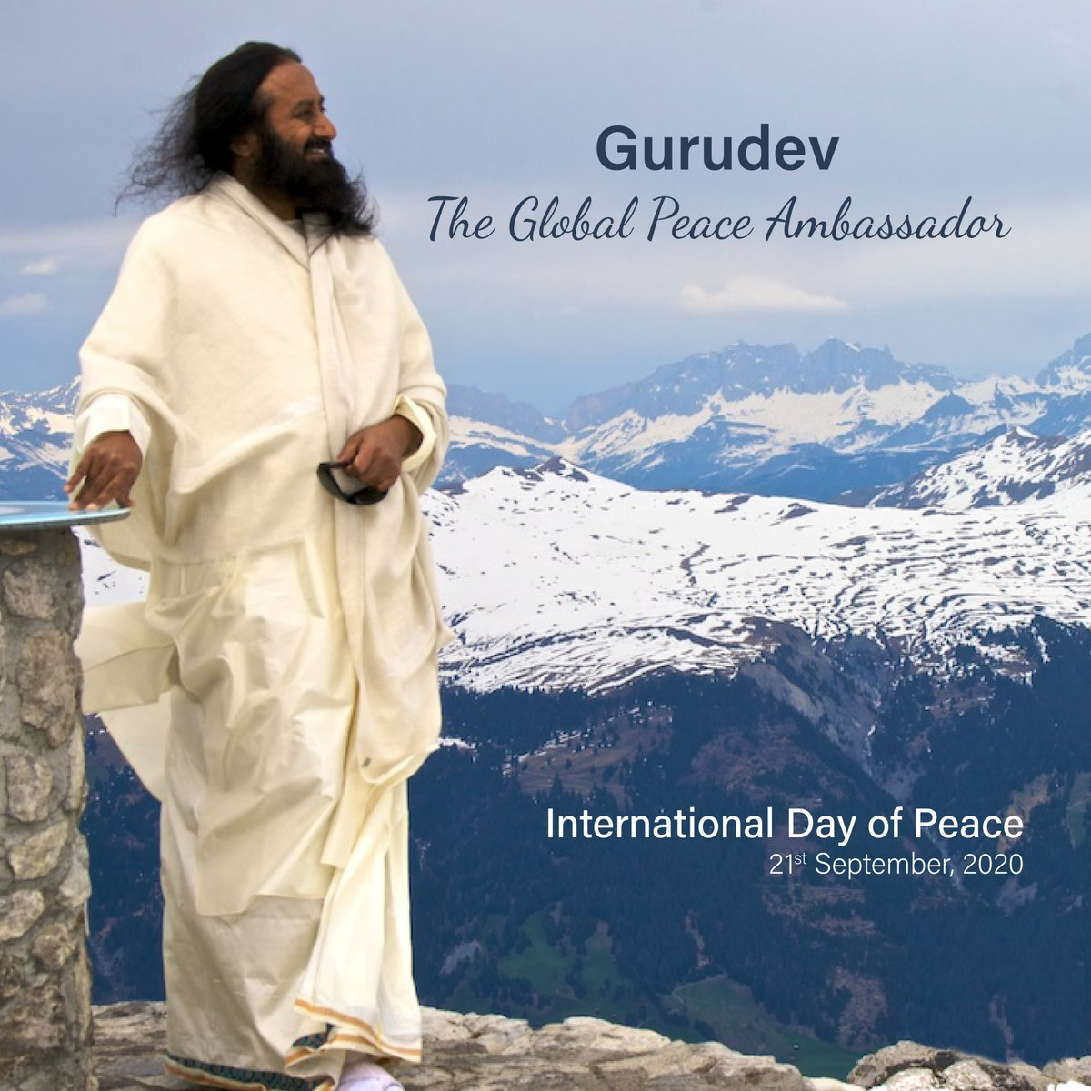 Gurudev @SriSri Ravi Shankar continues His relentless efforts as a Global Peace Ambassador. From Iraq to Ivory Coast and Kashmir to Colombia, He continues to inspire, bridge boundaries and bring peace.  #InternationalPeaceDay #PeaceDay2020 #InternationalDayofPeace2020  (1/2) https://t.co/ND8r2cuhxM
