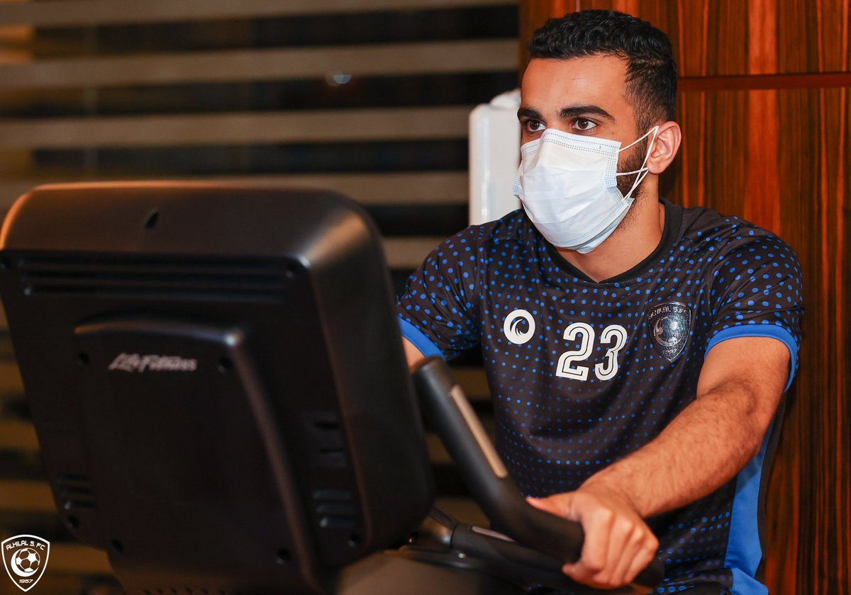 📸 Recovery at the gym..  #AlHilal 💙 https://t.co/P19HcdHXqt