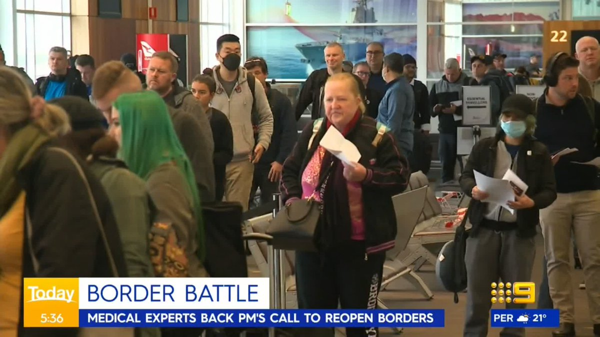 Medical experts have now backed the Prime Ministers repeated calls for borders between the states to reopen. @KerrieYaxley #9News https://t.co/74E2a3SvNq