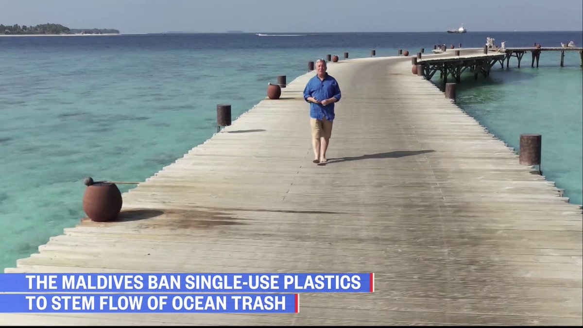 The Maldives has now banned all single-use plastic as the country deals with a massive trash problem.  @KerryNBC shows us how their plan is working.  Watch NOW: https://t.co/U4UZMHn7bF https://t.co/6YdkaLQFlq