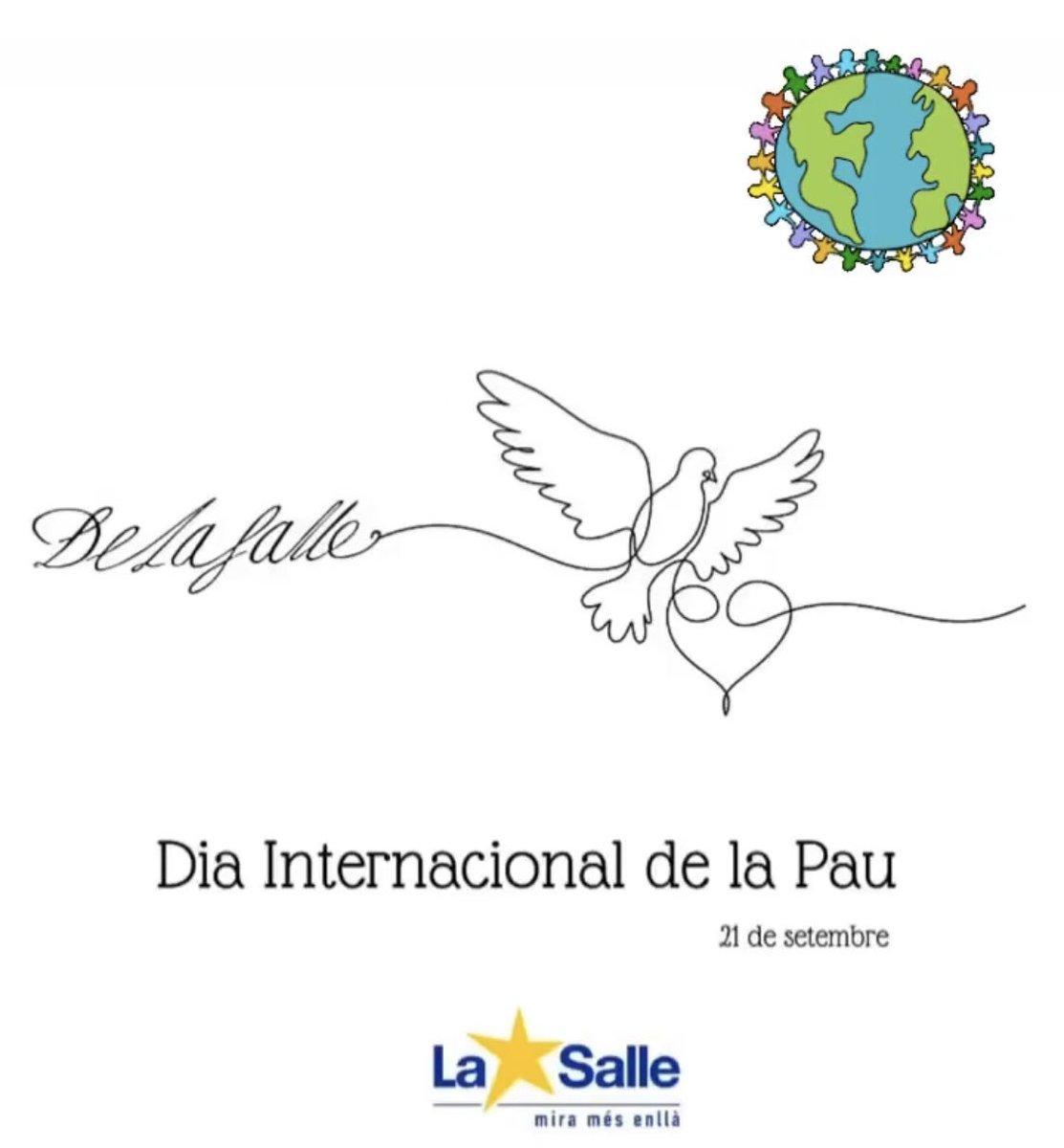 Dia de la Pau #itúquètries #LaSalle #Palamós #SomLaSalle #miramésenllà https://t.co/vXbgLf1XgA