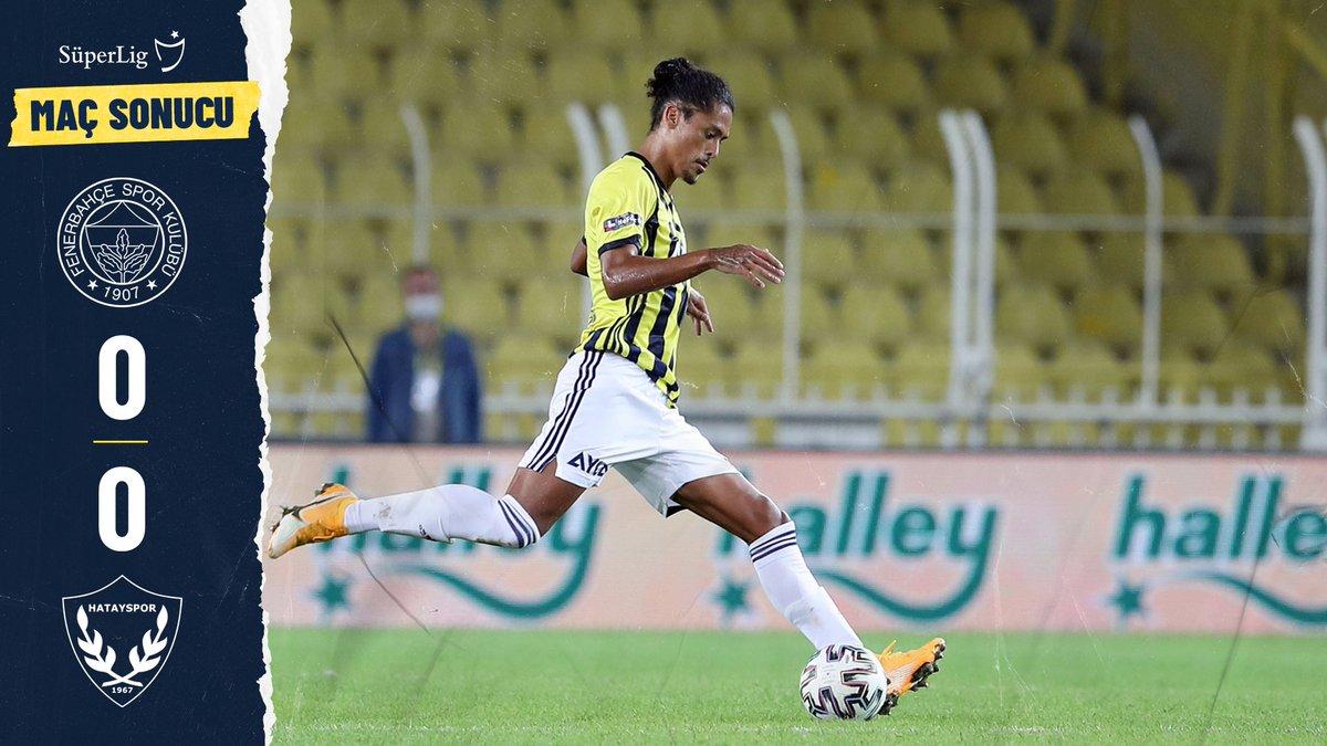 Maç sonucu: Fenerbahçe 0-0 A. Hatayspor https://t.co/DNGouau4iE
