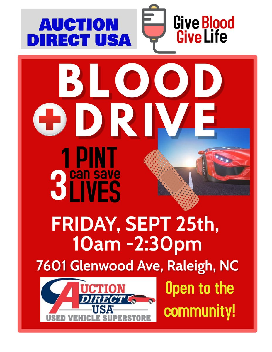 We're hosting a blood drive this Friday, September 25th from 10am - 2:30pm. It's open to the whole community. Give Blood - Save Lives💉 https://t.co/LciqFxkJ7t