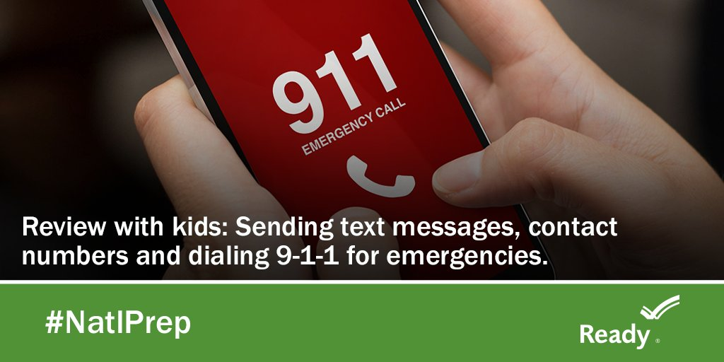 Help your kids know how to communicate during an emergency. Review these topics with them:   (1) Sending text messages (2) Emergency contact numbers (3) Dialing 9-1-1 for help  Learn more on how to prepare your family: https://t.co/z6VWgDRQKa  #YouthPrep #ReadyMA https://t.co/n2z6xgWa0l