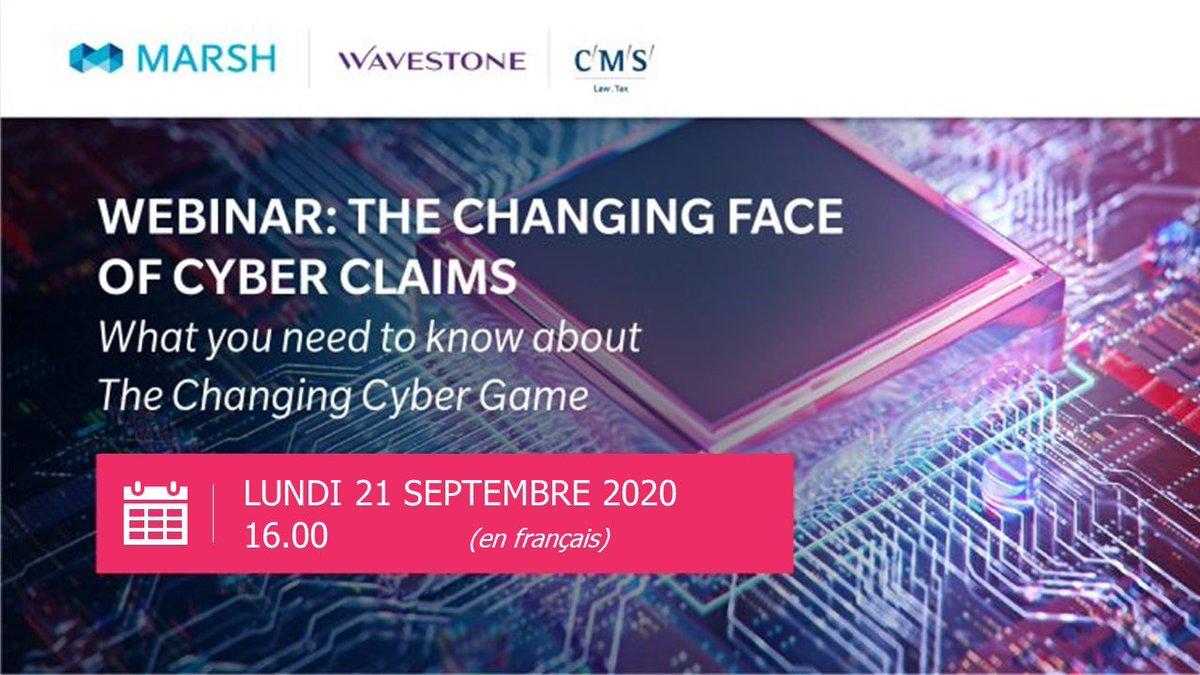 Via @Risk_Insight #Webinar - Les sinistres cyber avec #Marsh et #CMS   @gbillois revient sur les grandes tendances #cyber pour 2020 et 2021 !  1⃣ Les #ransomware 2⃣ Les attaques par les #tiers  3⃣ Les nouvelles attaques #Cloud. https://t.co/HTd4rTQKIa
