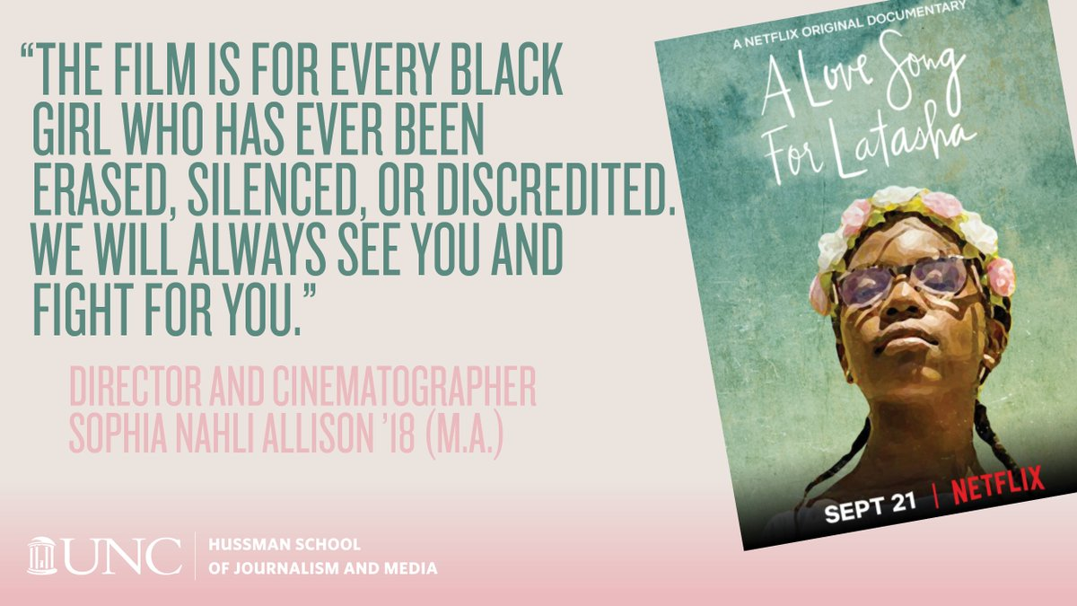[2/2] Grad @SophiaNAllison wrote: ❝The film challenges the restrictions and constraints of conventional documentaries by visually articulating both the public and private spaces that Black women and girls must navigate and coexist in.❞ A powerful 15 min. go.unc.edu/Latasha